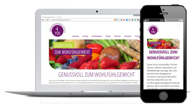 Website Design ernaehrungscoach4you.at