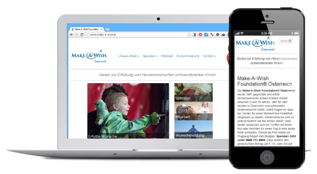 Website Design make-a-wish.at